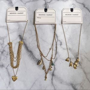 Melrose and Market Gold Layered Charm Necklaces